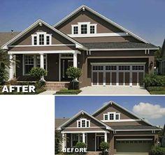 Garage Door Makeover: Clopay Coachman Collection Steel Carriage House Garage  Door Replaces Traditional Raised Panel