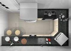 Image result for cozinhas estreitas em u