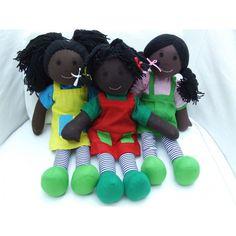 """Cuddly 12"""" Rag Doll - African Girls African Girl, Rag Dolls, Stuffed Animals, Teddy Bear, Toys, Girls, Fabric Dolls, Activity Toys, Toddler Girls"""