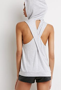 Crisscross-Back Sleeveless Hoodie | Forever 21 - grey or Black 2000132263