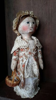Primitive grungy colonial bedpost doll by wendycampbellklepper