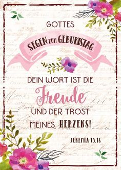 PK Zum Geburtstag - Dein Wort ist die Freude   Bolanz Verlag e.K.