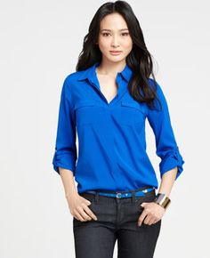 Silk Camp Shirt from Ann Taylor-usually not into Ann Taylor but I really like this