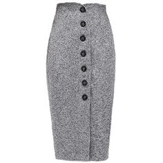 Single Breasted Pencil Midi Skirt