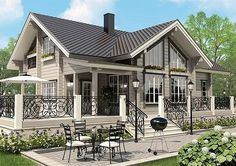 Home Building Design, Home Design Plans, Building A House, Beautiful Small Homes, Beautiful House Plans, Small House Layout, House Layouts, Cottage Plan, Cottage Homes