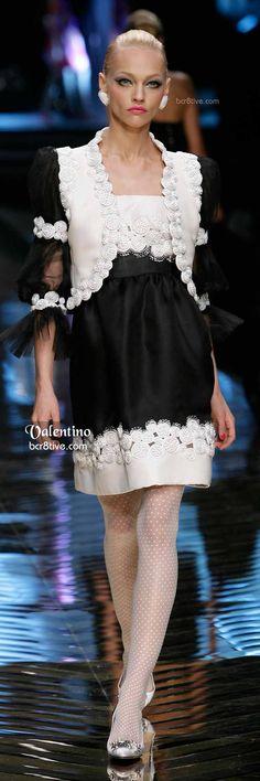 Valentino Embroidered Bolero and Dress in Black and White
