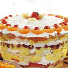 Punch Bowl Trifle.   Just in time for our family reunion!  This looks scrumptious!!