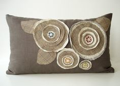 A decorative throw pillow for our couch - I love the textures.