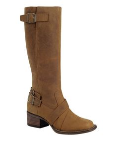 Another great find on #zulily! Camel Charlotte Engineer Leather Boot #zulilyfinds