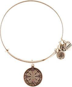 University of Notre Dame | Silver Four Leaf Clover Bracelet | Alex and Ani