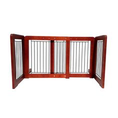 WELLAND Free standing Expandable Wooden Pet Gate Dog Gate, 36'',Light Cherry ** See this great image