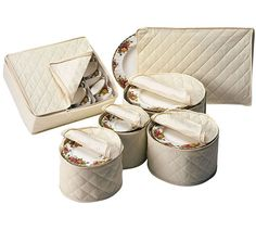 Protect Your Delicate China When It Is In Storage By Storing Them In This  Quilted Polyester
