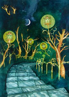 Park Living Lights by yanadhyana on DeviantArt Fantasy Landscape, Conte, Painting & Drawing, Fairy Tales, Deviantart, Lights, Traditional, Park, Drawings