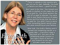Elizabeth Warren.  Telling it like it is.