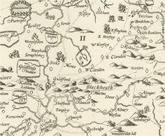 The earliest individual county map of Surrey, published in 1594: John Norden's 'Mirror of Britain'