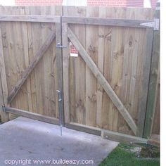 How to make and fit double lumber gates and how to offset and align the hinges allowing the gates to open over raised groun Introduction and how to hinge and align a gate It's a simple enough task to build and fit a standard type garden gate as long as…