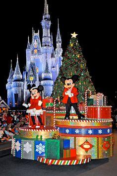 Disney World at Christmas time.