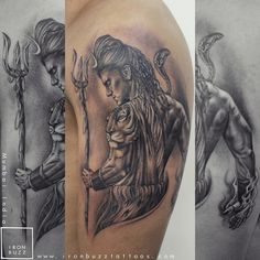 Top Lord Shiva and Mahadev Tattoos Done at Iron Buzz Tattoos. Lord Shiva Tattoos is known to be the Supreme Being, transformer and destroyer too. Dream Tattoos, Body Art Tattoos, Hand Tattoos, Tatoos, Skull Tattoos, Future Tattoos, Kali Tattoo, Shiva Tattoo Design, Lion Tattoo