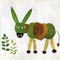 DIY Leaf Donkey