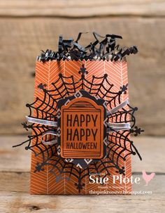 one more for Halloween.and then I'm saving the rest of my spooky projects for 13 Days of Halloween I had so much fun w. Halloween Treat Holders, Halloween Tags, Holidays Halloween, Halloween Themes, Halloween Decorations, Halloween 2015, Happy Halloween, Halloween Gift Bags, Halloween Parties