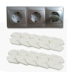 10 Piece Baby Safety   Electric Protection Socket Plastic Security Locks  Price: 8.00 & FREE Shipping  #babyclothes Safety And Security, Baby Safety, Child Safety, Security Lock, Baby Bumper, Electrical Safety, Baby Store, Baby Accessories, 2 Colours