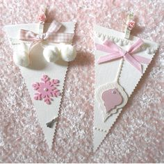 Shabby Chic Christmas Bunting  Banner Garland by barbie57 on Etsy, $20.00