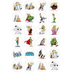 Décorations Comestibles Asterix et Obelix Pour Cup Cakes