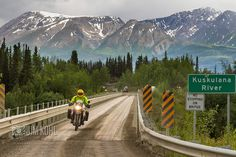 Ride through Wrangell-St. Elias National Park on our Alaska Backcountry Explorer Motorcycle trip. Click here to know more: https://www.motoquest.com/guided-motorcycle-tour.php?alaska-motoquest-camp-36