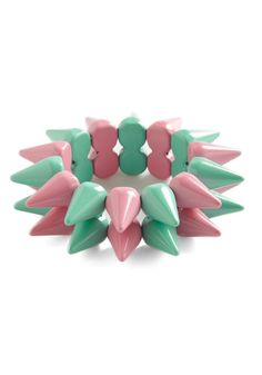 Spike Things Up Bracelet, #ModCloth $20.99 I would like this if it had a checkerboard pattern, instead of just stripes.