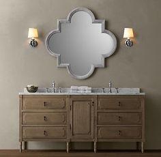 Louis XVI Double Vanity Sink traditional bathroom vanities and sink consoles