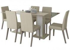 Conjunto de Mesa com 6 Cadeiras Lais - Madesa