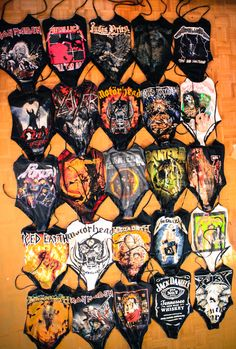http://toxicvision.etsy.com 1 piece band suits. Cause you cant confine Danzig to a bikini.