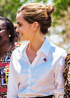 Emma Watson - Visiting Malawi, Africa with UN Women (10/10/16)