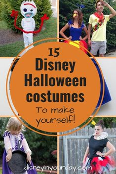 Disney DIY Halloween costumes - Disney in your Day. If you prefer homemade costumes over store bought ones, here are some of the best Disney DIY Halloween costumes and tutorials to create something truly beautiful and unique!