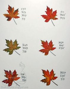 tips for coloring leaves with copic markers