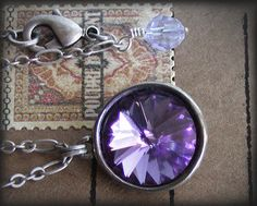 I want this!!!!!!! Tanzanite Swarovski Crystal Necklace with by jQjewelrydesigns, $29.00