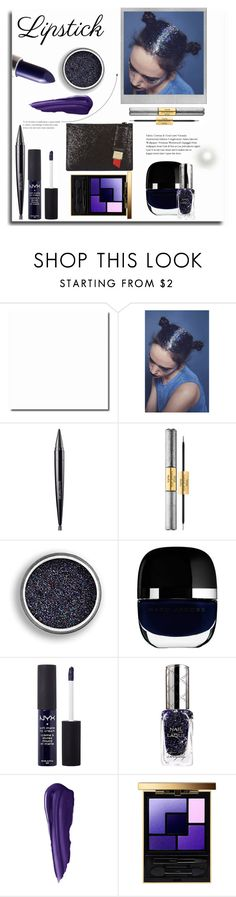 """glitter lips"" by rocio-martinez-1 ❤ liked on Polyvore featuring beauty, Polaroid, In Your Dreams, Laura Mercier, tarte, Marc Jacobs, NYX, By Terry, Yves Saint Laurent and Lulu Guinness"