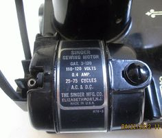 My Sewing Machine Obsession: Featherweight motor; Singer 221 motor cleaning and repair