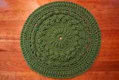 Twain Pattern  Accent crochet pet rug by TheWellReadCat on Etsy, $60.00