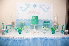 mermaid candy buffet table - Google Search