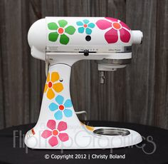 Graphic for Kitchen Mixer - Flower Power. $19.95, via Etsy.