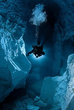 cave diving...