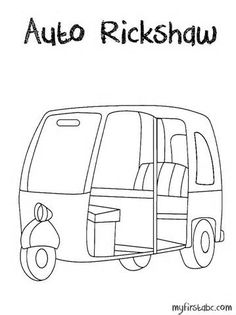 Image Result For Auto Rickshaw Drawing Front View Illustration