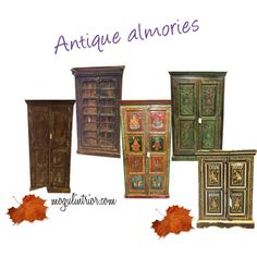 armoire Colonial Furniture, Antique Furniture, Antique Armoire, Wood Cabinets, Teak Wood, Wooden Tables, Hand Carved, Carving, Rustic