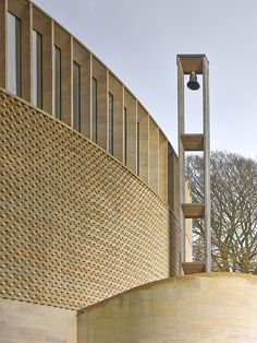 Bishop Edward King Chapel, Niall McLaughlin Architects on Behance Public Architecture, Sacred Architecture, Church Architecture, Architecture Details, Modern Architecture, Facade Design, Exterior Design, Hopkins Architects, Brick Images