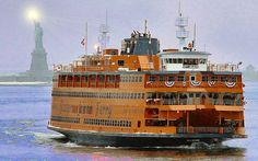 The Staten Island Ferry - To see the Statue of Liberty, Ellis Island, and the city skyline
