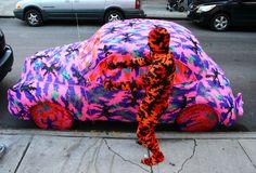 Olek crochets life into art