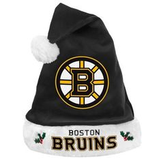 Boston Bruins Santa Hat by Forever Collectibles. $10.99. Show off your awesome team spirit through the holiday season with this High Quality NHL Santa Hat! Santa hat features embroidered team name and logo