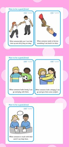 How To Be A Good Friend Cards. Free Printables.                                                                                                                                                                                 More
