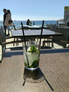Mojito in front of the beach